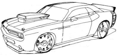 Coches deportivos de carrreras para pintar mec nico - Empapelar coche para pintar ...